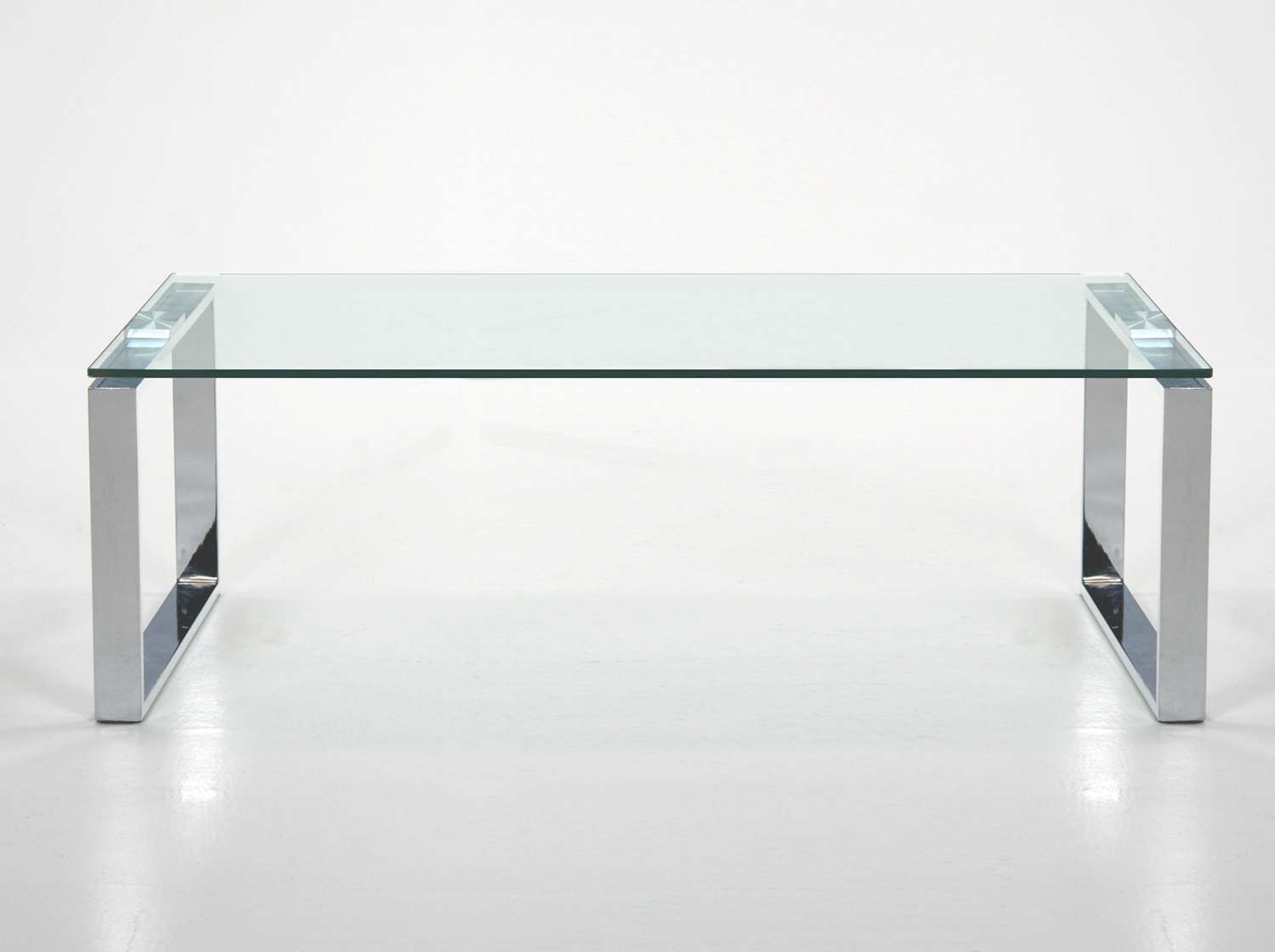 Most Current Rectangle Glass Chrome Coffee Tables Throughout Coffee Tables : Rectangular Decorations Glass And Chrome Coffee (View 3 of 20)