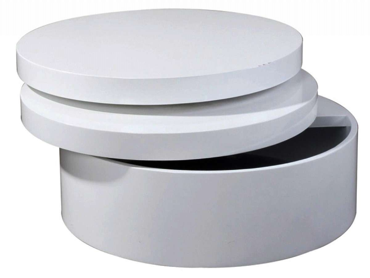 Most Current Round Coffee Tables With Storages Pertaining To White Round Coffee Table (View 7 of 20)