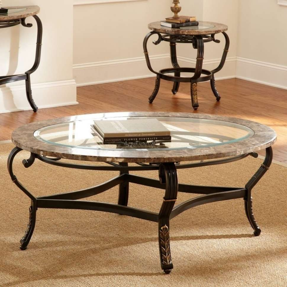 Most Current Round Metal Coffee Tables Throughout Coffee Tables : Round Metal Coffee Table With Glass Top Designs (View 9 of 20)
