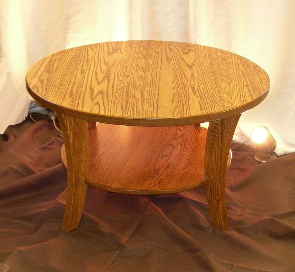 Most Current Round Oak Coffee Tables Inside Round Oak Coffee Table – Writehookstudio (View 11 of 20)