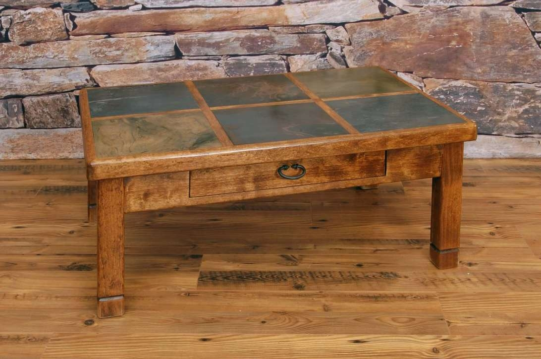 Most Current Round Slate Top Coffee Tables Within Round Slate Coffee Table Tables Decoration Model And Wood With (View 13 of 20)