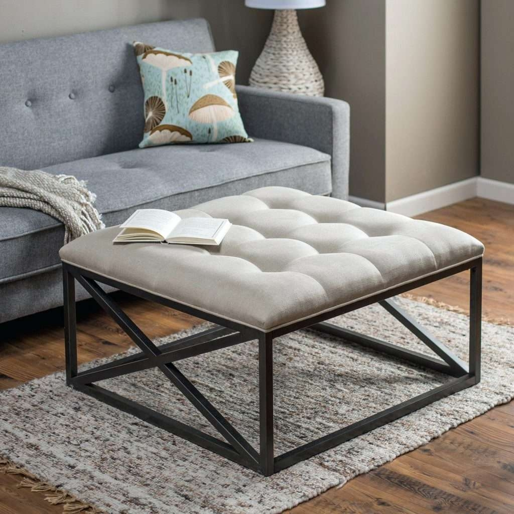 Most Current Round Upholstered Coffee Tables Regarding Coffee Table : Cocktail Ottomans Storage Ottoman With Tray Ottoman (View 13 of 20)