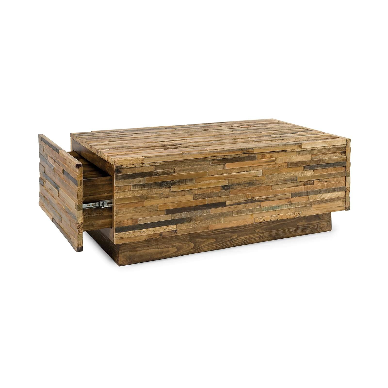 Most Current Rustic Coffee Table Drawers Regarding Coffee Table : Amazing Farm Style Coffee Table Reclaimed Wood (View 11 of 20)