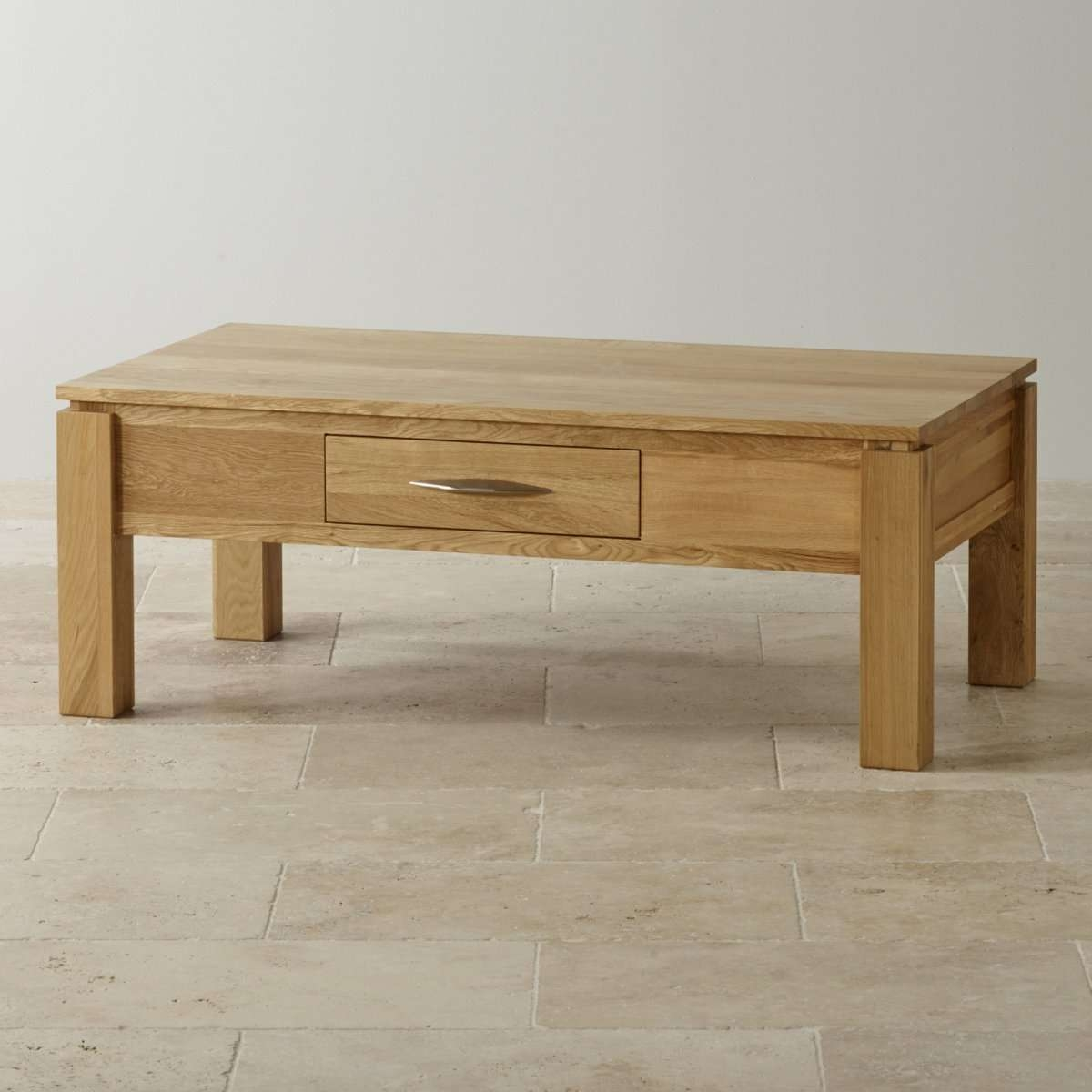 Most Current Solid Oak Coffee Table With Storage For Galway Large Coffee Table In Solid Oak (View 16 of 20)