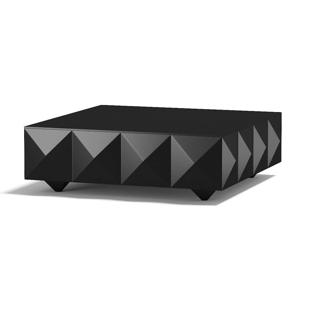 Most Current Square Black Coffee Tables For Square Black Coffee Table 3d Model (View 9 of 20)