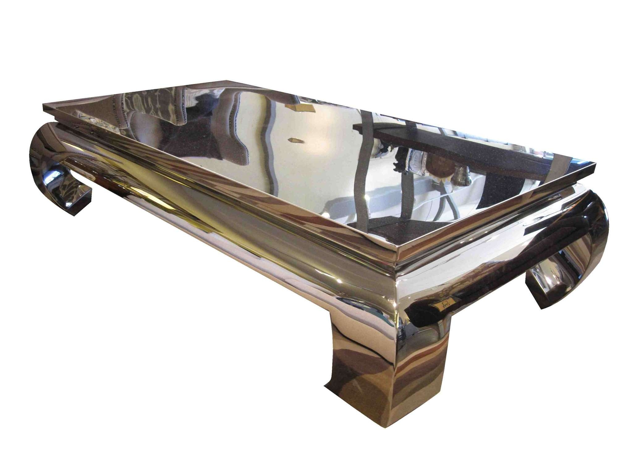 Most Current Stainless Steel Trunk Coffee Tables Pertaining To Modern Stainless Steel Coffee Table Sophisticated Frame Polished T (View 10 of 20)