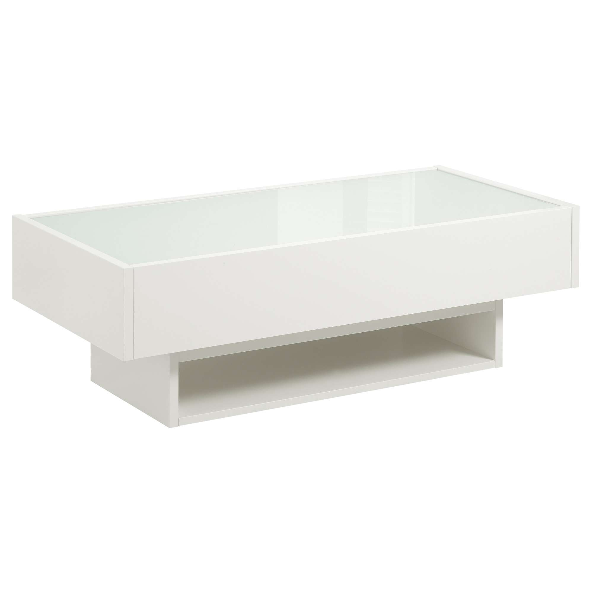 Most Current White And Glass Coffee Tables For Coffee Table : Awesome White Cocktail Table Modern Coffee Table (View 18 of 20)