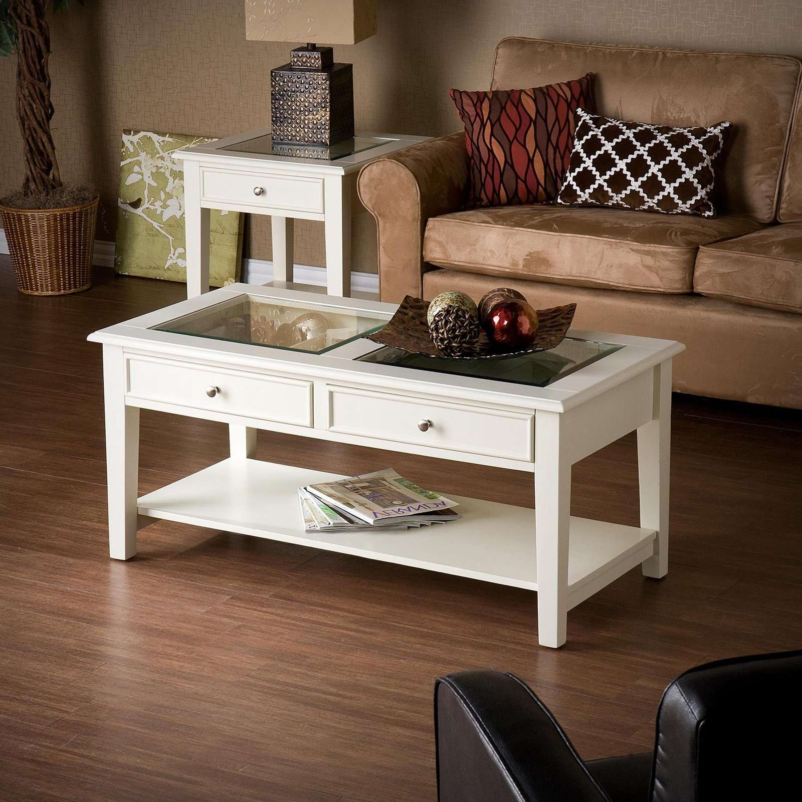 Most Current White Wood And Glass Coffee Tables Intended For Glass Box Glass And White Wood Coffee Table Glass Box Glass And (View 13 of 20)