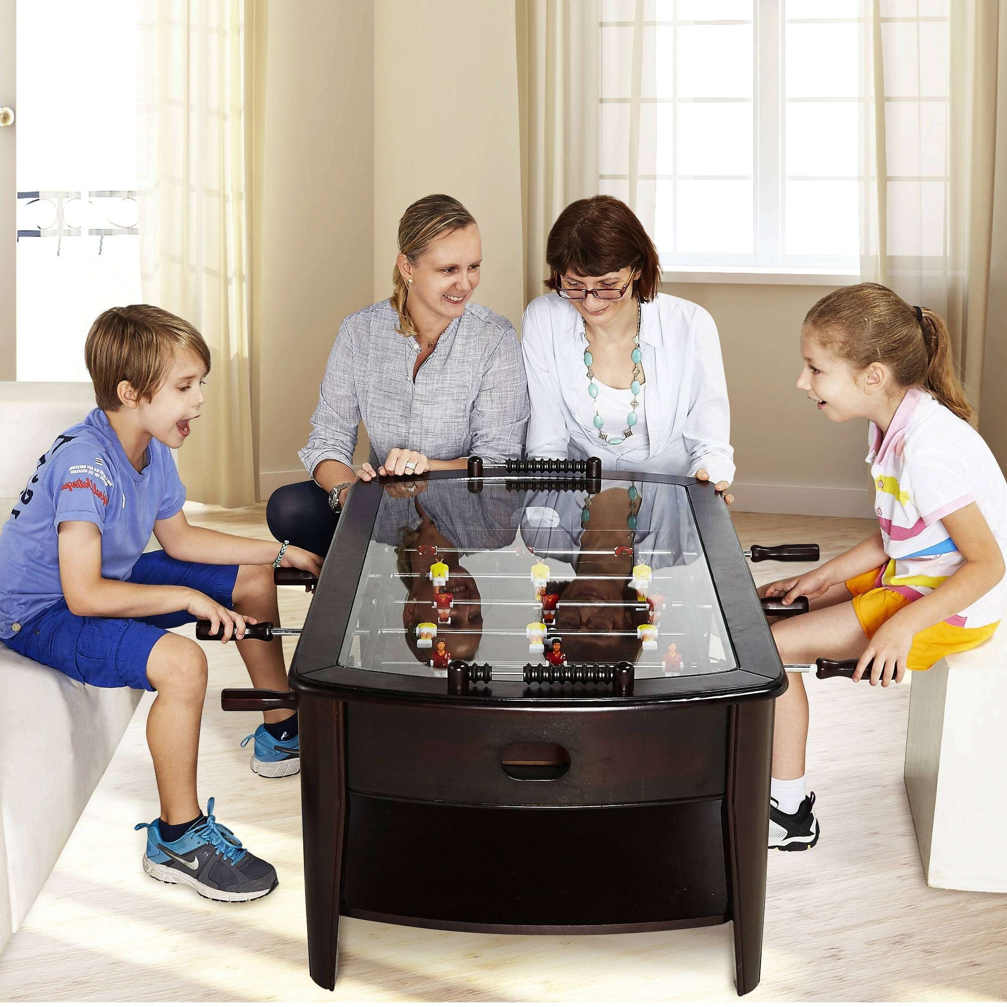 Most Popular Big Coffee Tables Within Barrington 42 Inch Wooden Foosball Coffee Table – Walmart (View 15 of 20)