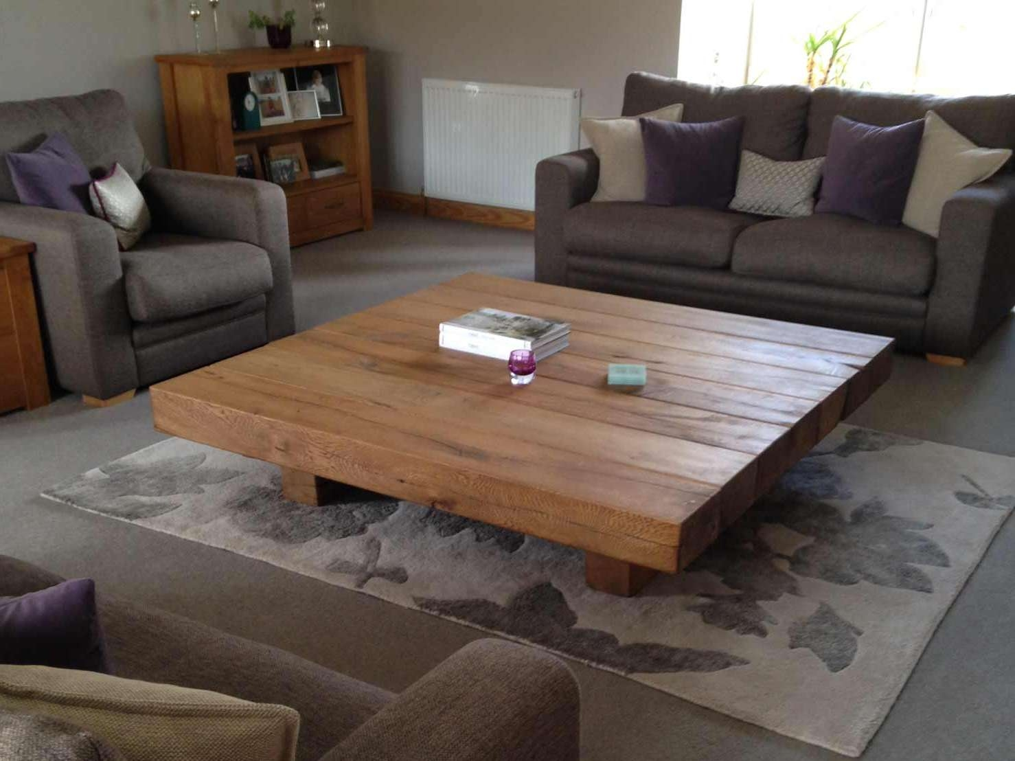 Most Popular Big Low Coffee Tables Throughout Coffee Tables : Simple Big Low Coffee Table Living Room Table (View 8 of 20)