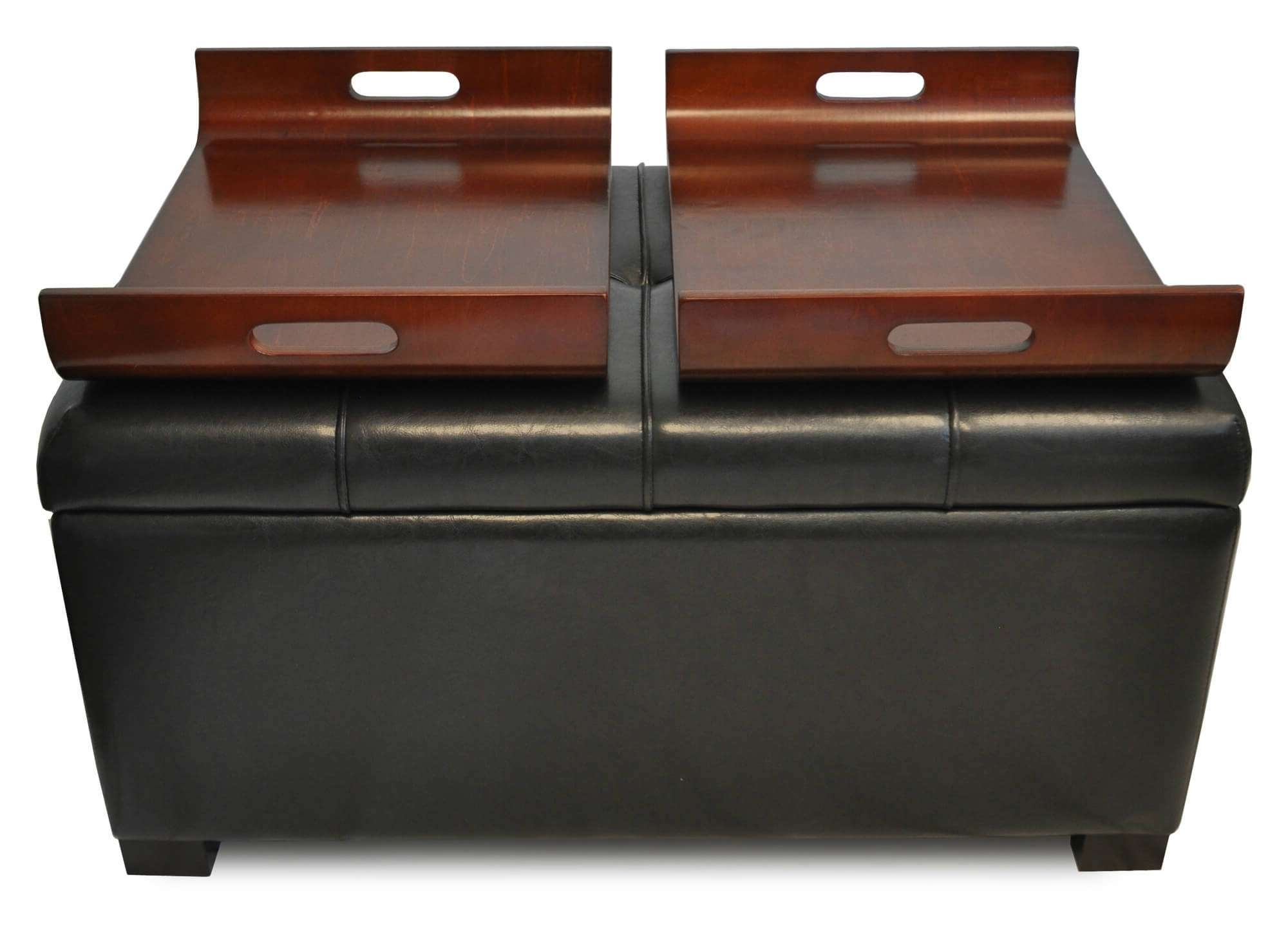 Most Popular Brown Leather Ottoman Coffee Tables Throughout 36 Top Brown Leather Ottoman Coffee Tables (View 15 of 20)