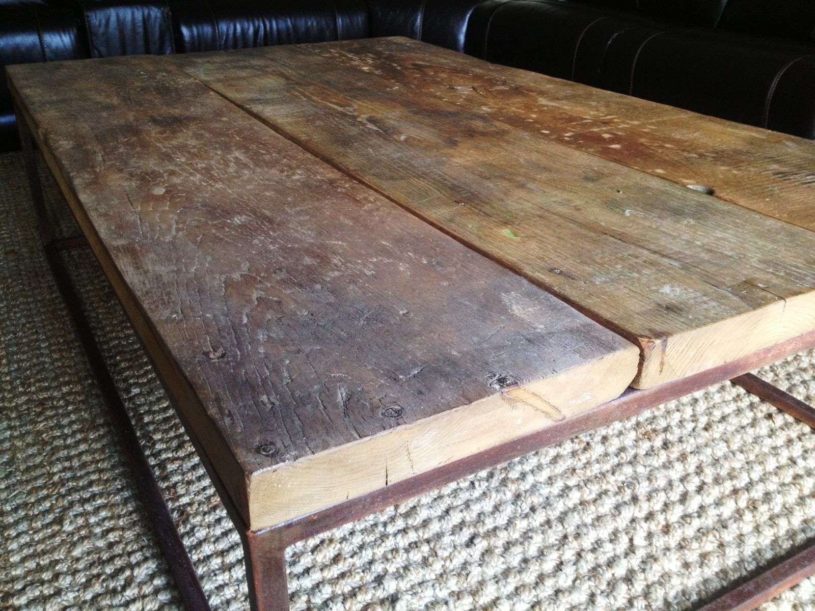 Most Popular Coffee Table Industrial Style Intended For Hand Crafted Industrial Style Coffee Tablee.b (View 14 of 20)