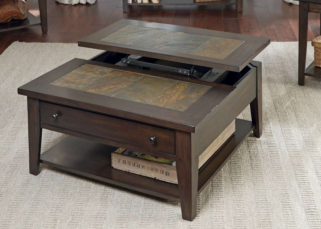 Most Popular Coffee Table With Raised Top Within Loon Peak Leadville North Coffee Table With Lift Top & Reviews (View 12 of 20)