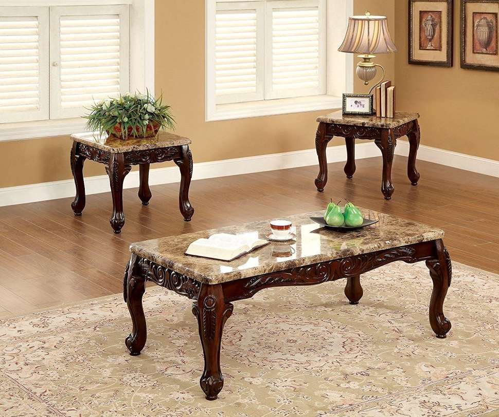 Most Popular Coffee Tables And Side Table Sets For Coffee Tables : Side Coffee Table Set Piece Living Room Sets (View 13 of 20)