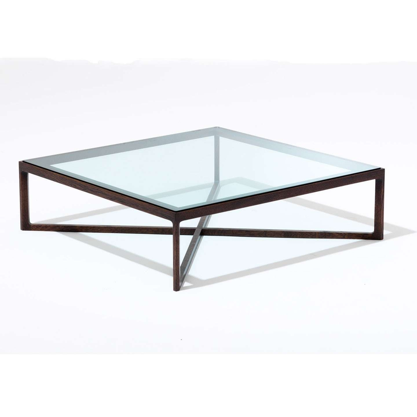 Most Popular Coffee Tables Glass And Metal In Coffee Tables : Charming Dark Brown Square Rustic Glass Wooden (View 5 of 20)