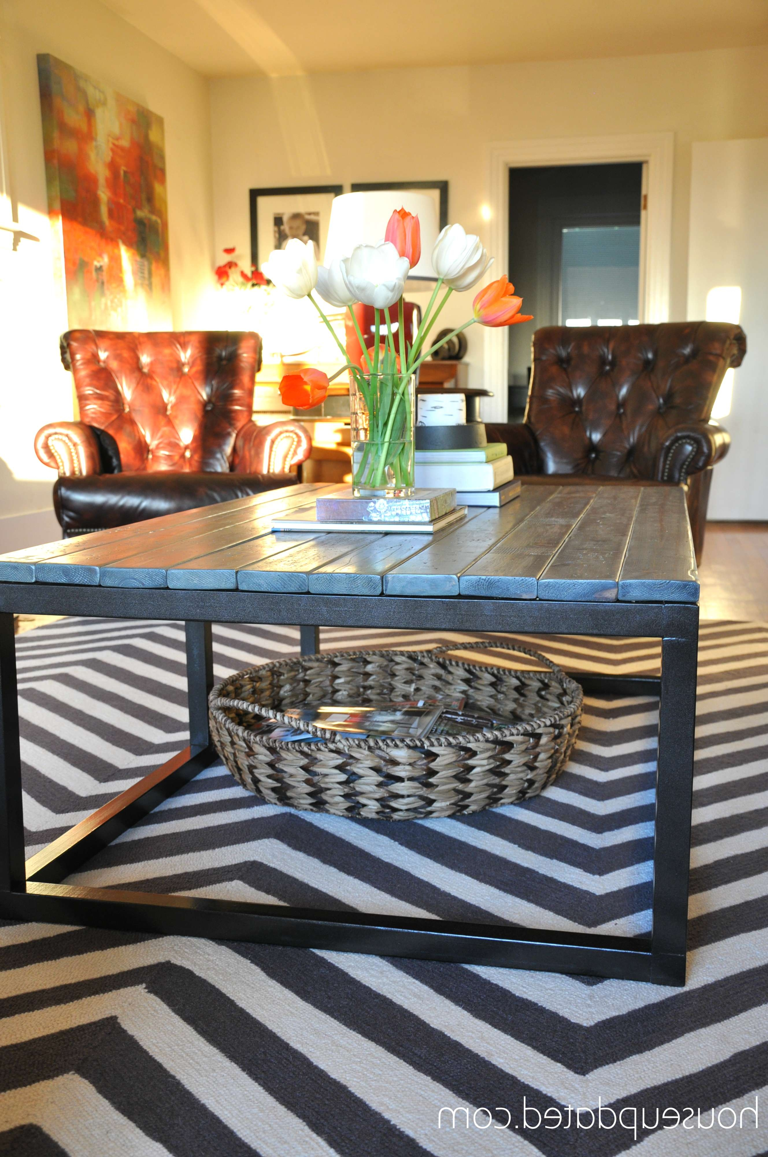 Most Popular Coffee Tables With Baskets Underneath Throughout Under Coffee Table Storage Baskets Rolling From Up Leksvik (View 15 of 20)