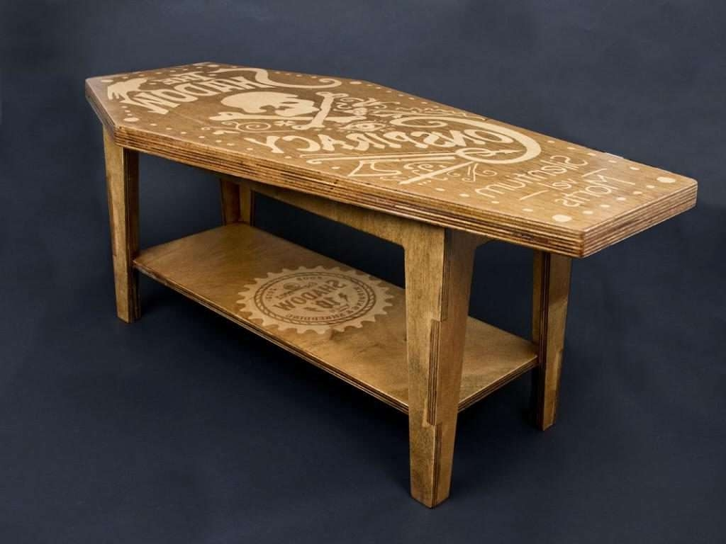 Most Popular Cool Coffee Tables Inside Coffee Table : Cool Coffee Tables For Guys Rooms Man Cave With (View 20 of 20)