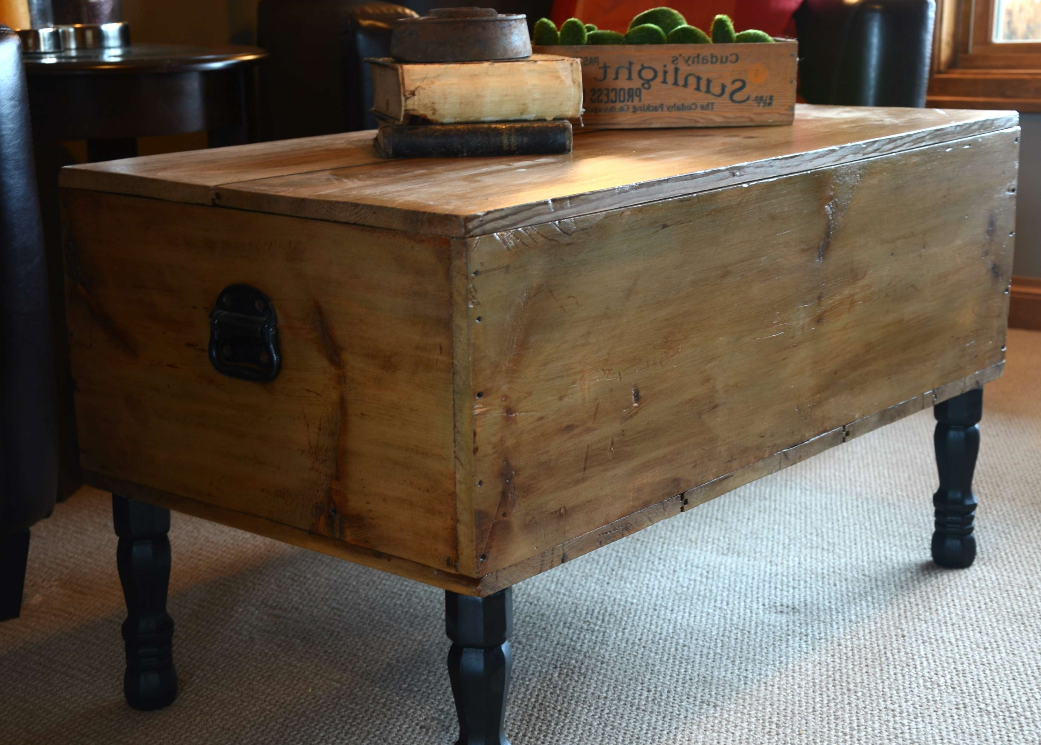 Most Popular Dark Wood Chest Coffee Tables Within Wonderful Treasure Chest Coffee Table Dark Brown Rectangle (View 20 of 20)