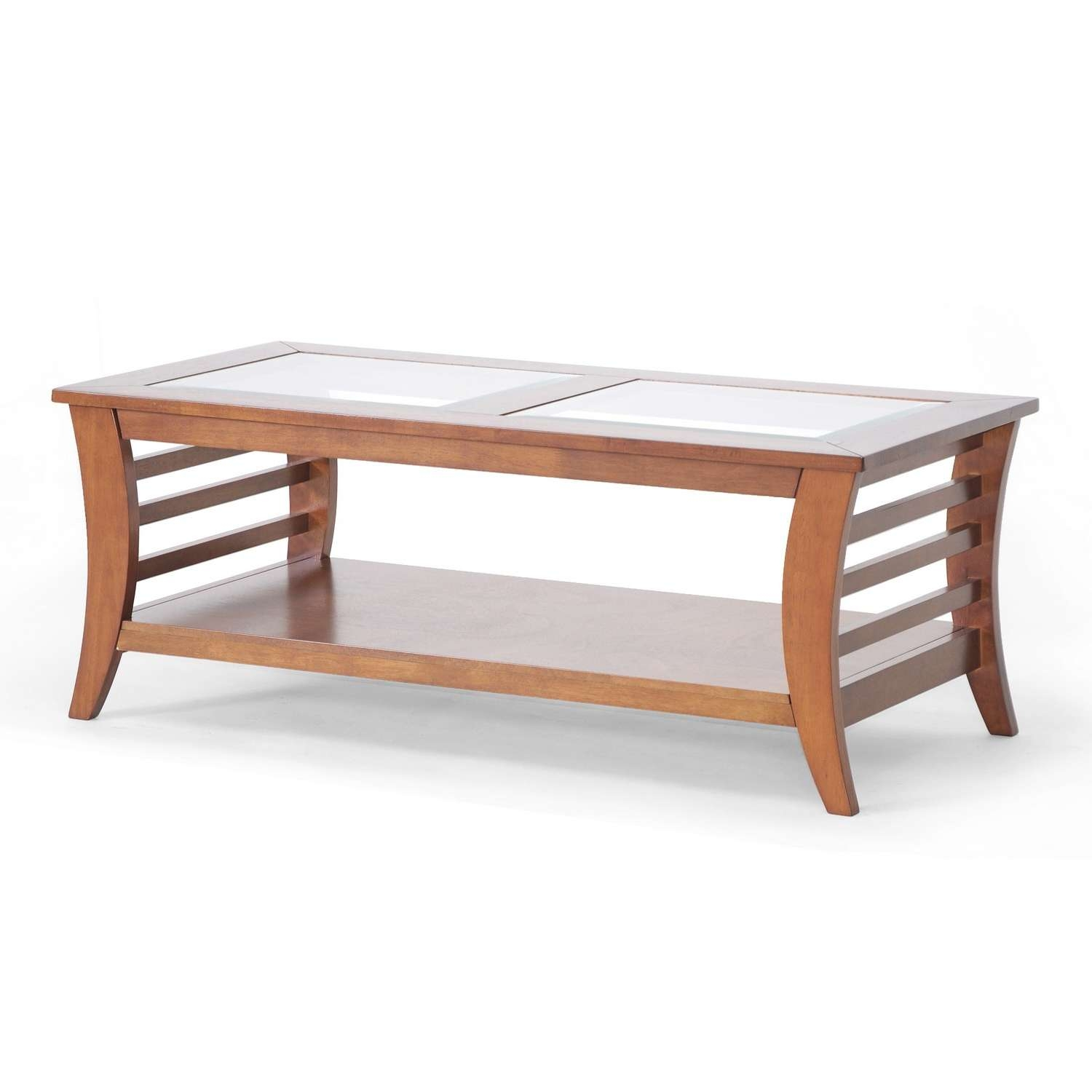 Most Popular Dark Wood Coffee Tables With Glass Top Regarding Coffee Tables : Top Of Black Oval Coffee Tables Small Glass (View 23 of 23)