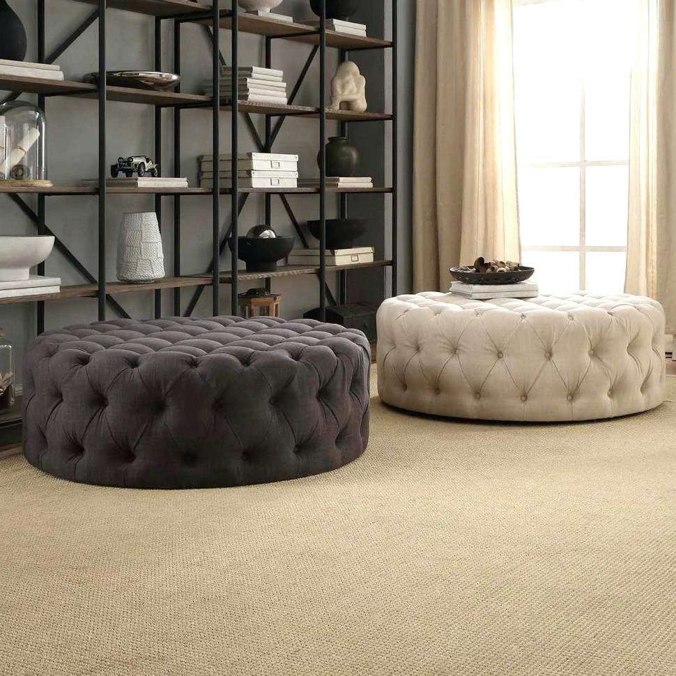 Most Popular Fabric Coffee Tables Inside Soft Coffee Table For Home Decor Coffee Oval Coffee Table Tufted (View 8 of 20)
