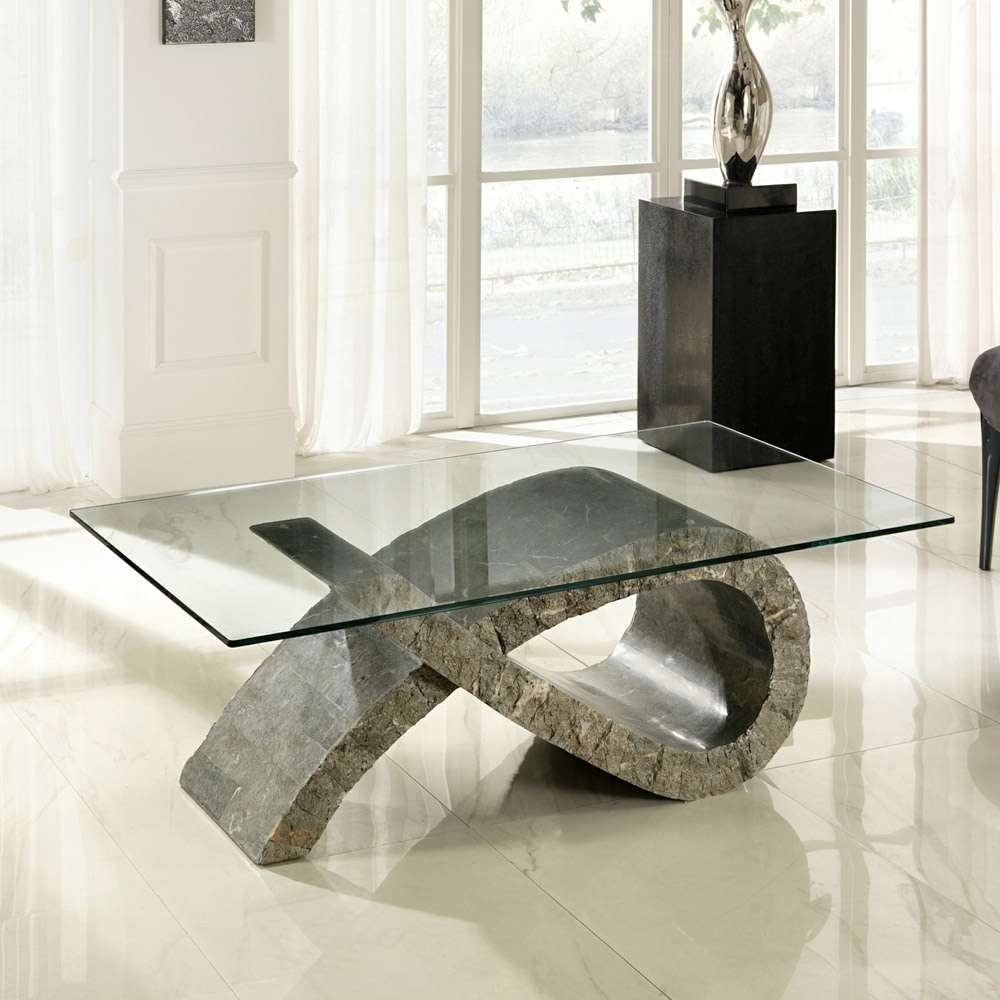 Most Popular Glass And Stone Coffee Table Throughout Stone Coffee Tables And Side Tables – Viadurini (View 19 of 20)
