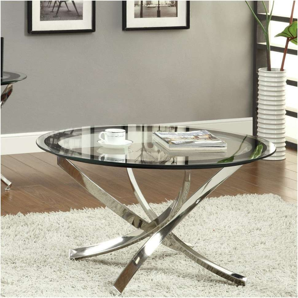 Most Popular Glass Chrome Coffee Tables In Bedroom : Magnificent Wayfair Glass Coffee Tables Excellent Round (View 13 of 20)