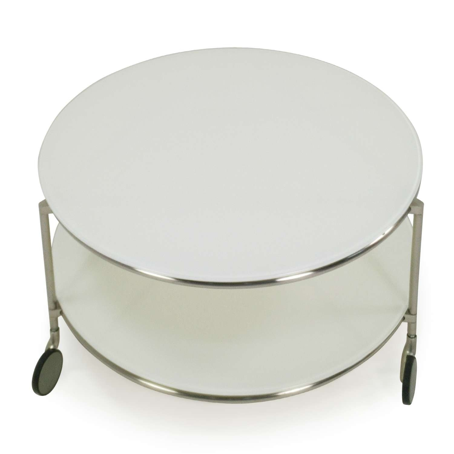 Most Por Gl Coffee Tables With Casters Throughout 82 Off Ikea String