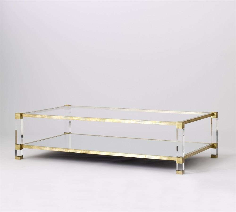 Most Popular Glass Gold Coffee Tables With Regard To Glass And Gold Coffee Table (View 17 of 20)