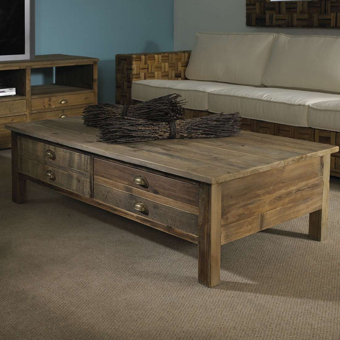 Most Popular Hardwood Coffee Tables With Storage In Deluxe Storage Together With 5 Houzz Reclaimed Wood Coffee Tables (View 13 of 20)