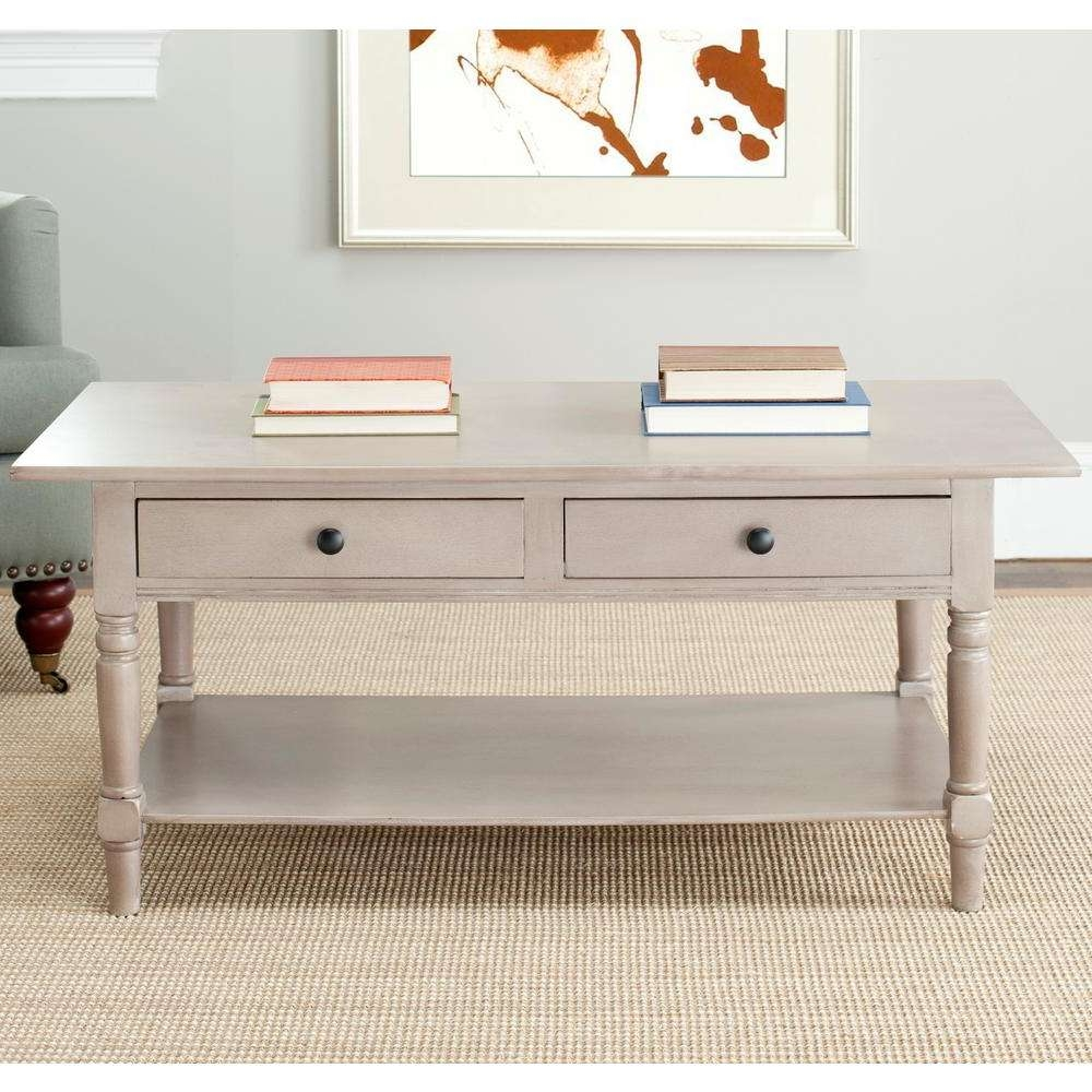 Most Popular Light Oak Coffee Tables With Drawers Within Safavieh Boris Light Oak Stain Storage Coffee Table Amh5706A – The (View 14 of 20)