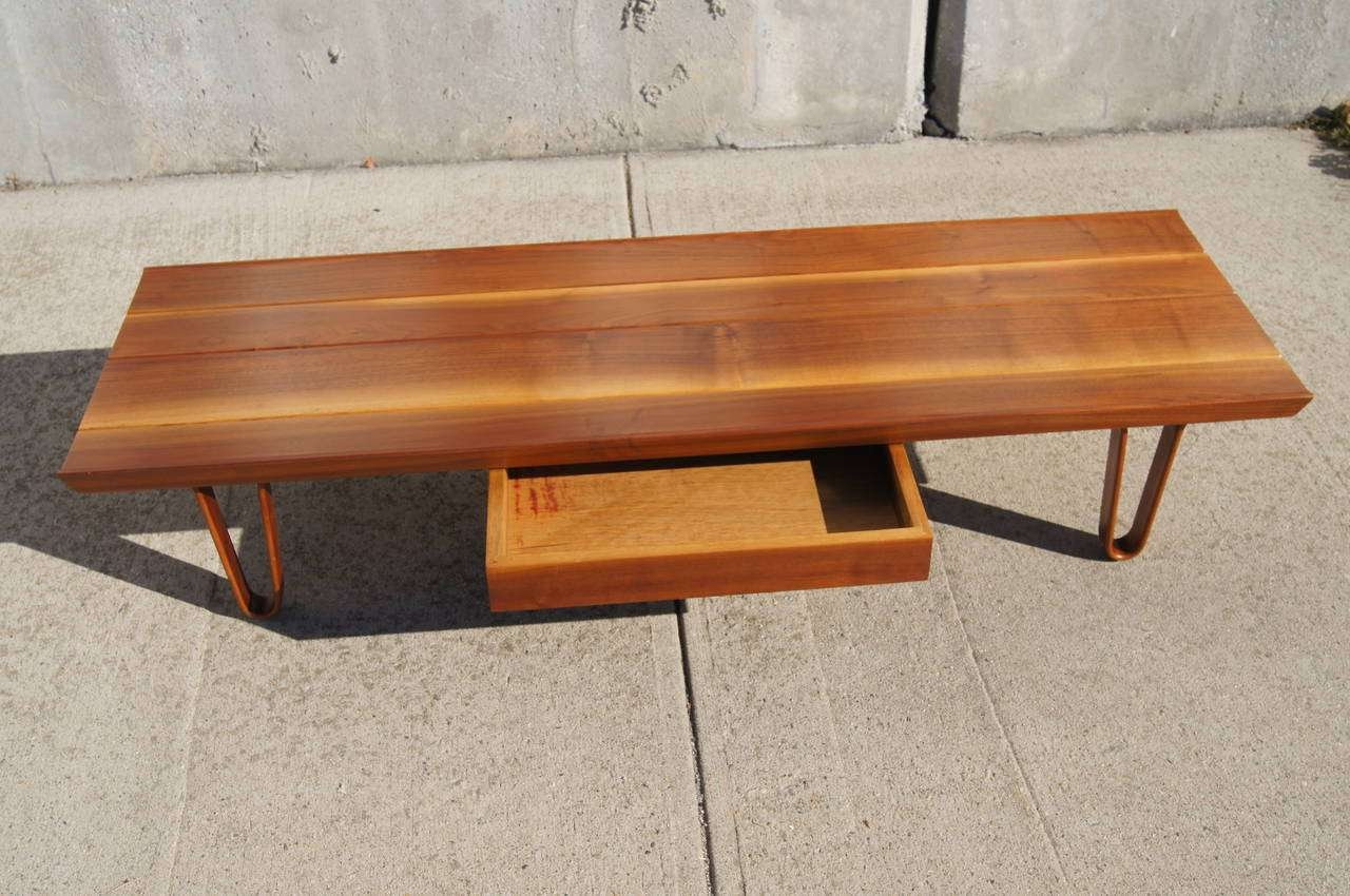 Most Popular Long Coffee Tables Inside Long John Coffee Tableedward Wormley For Dunbar At 1stdibs (View 13 of 20)