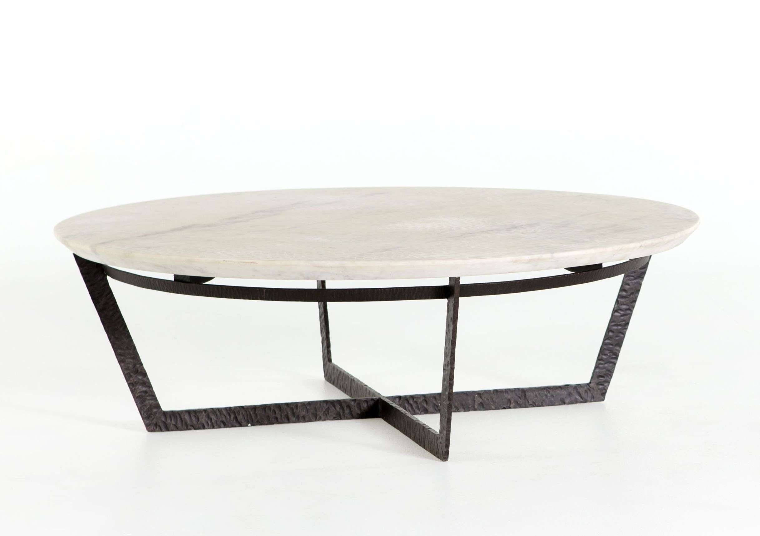 Most Popular Marble And Metal Coffee Tables For Textured Marble And Iron Coffee Table – Mecox Gardens (View 2 of 20)