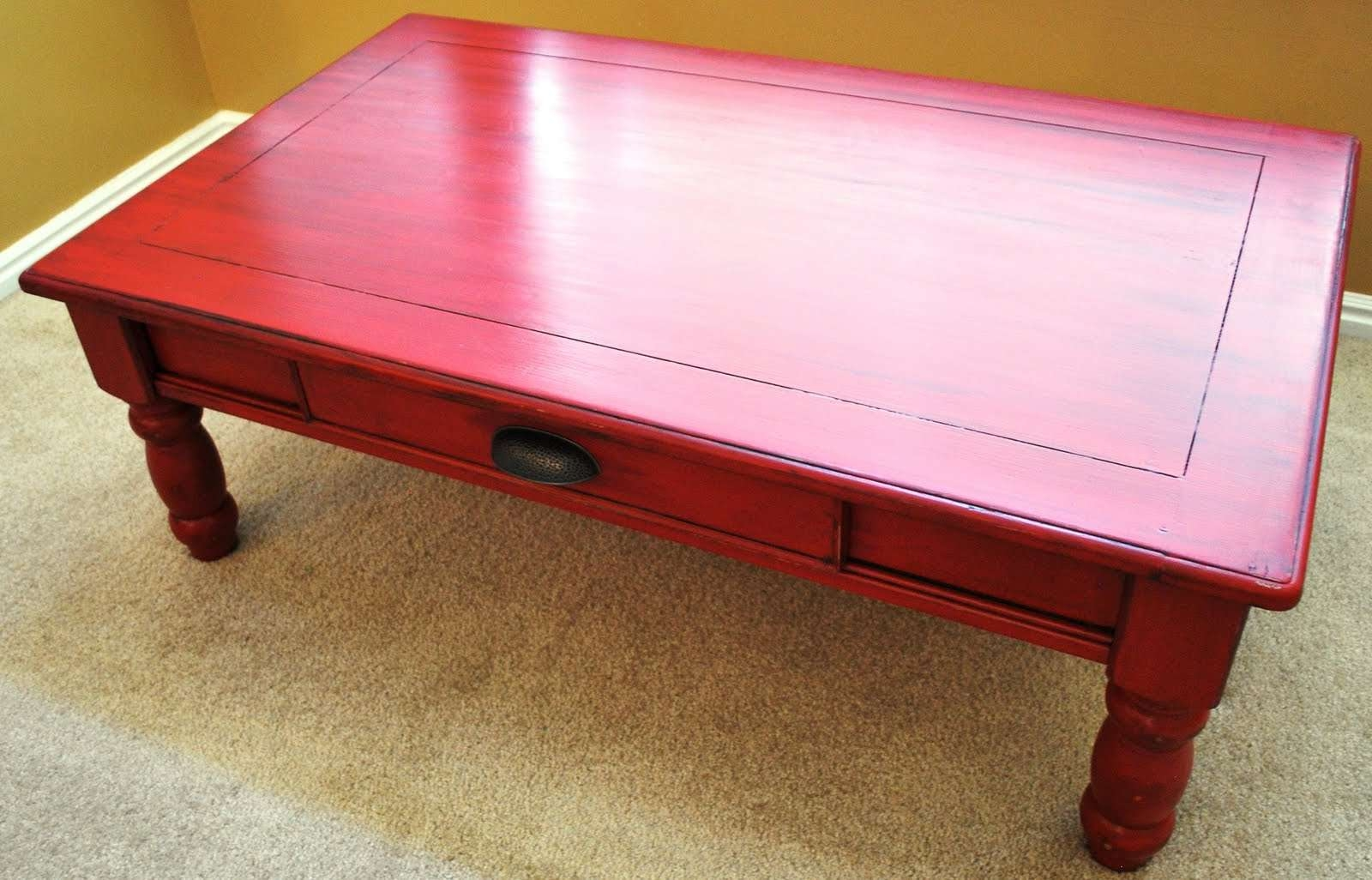 Most Popular Red Coffee Tables For Lovely Red Coffee Table 91 For Home Decor Ideas With Red Coffee (View 8 of 20)