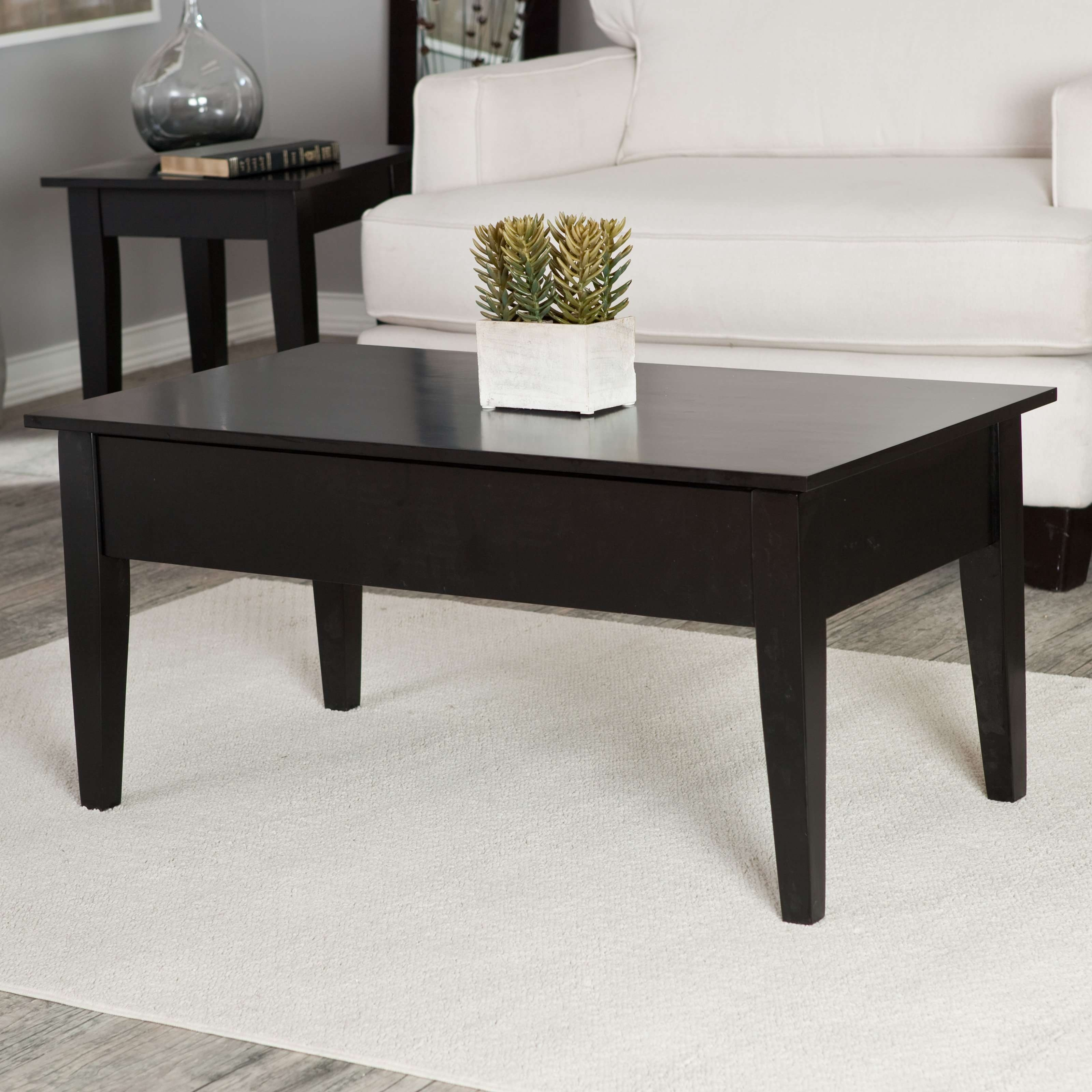 Most Popular Round Red Coffee Tables Inside Coffee Table : Wonderful Wood And Metal Coffee Table Modern White (View 11 of 20)