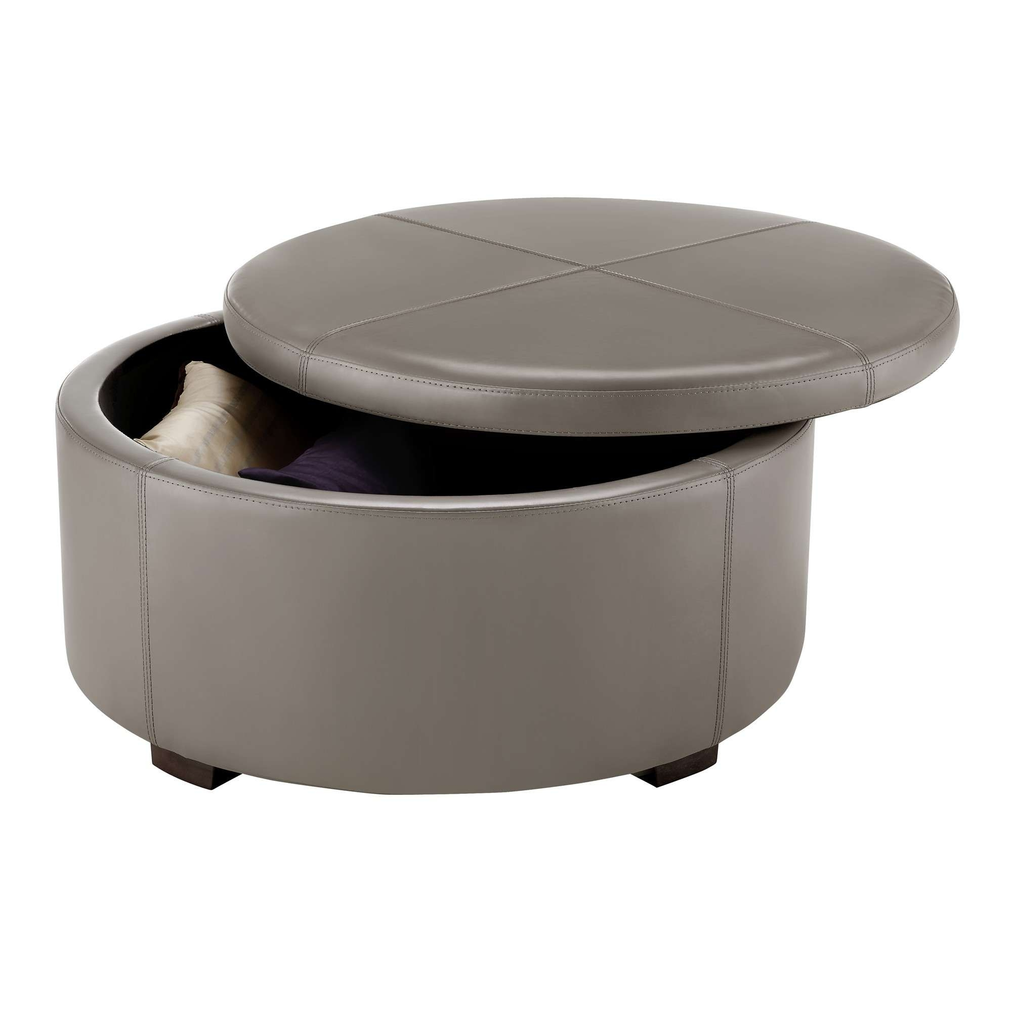 Most Popular Round Storage Coffee Tables Intended For Interior : Wood And Glass Coffee Table Decorating Top Round Side (View 3 of 20)