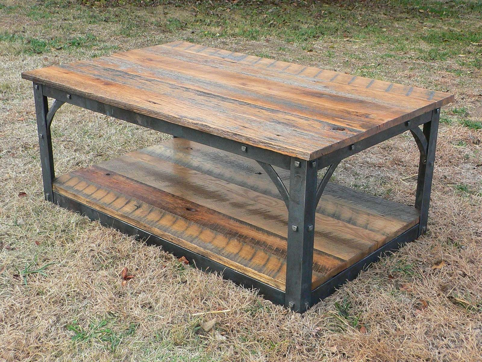 Most Popular Rustic Barnwood Coffee Tables With Regard To Coffee Tables : Reclaimed Barnwood Coffee Table Rustic And End (View 11 of 20)