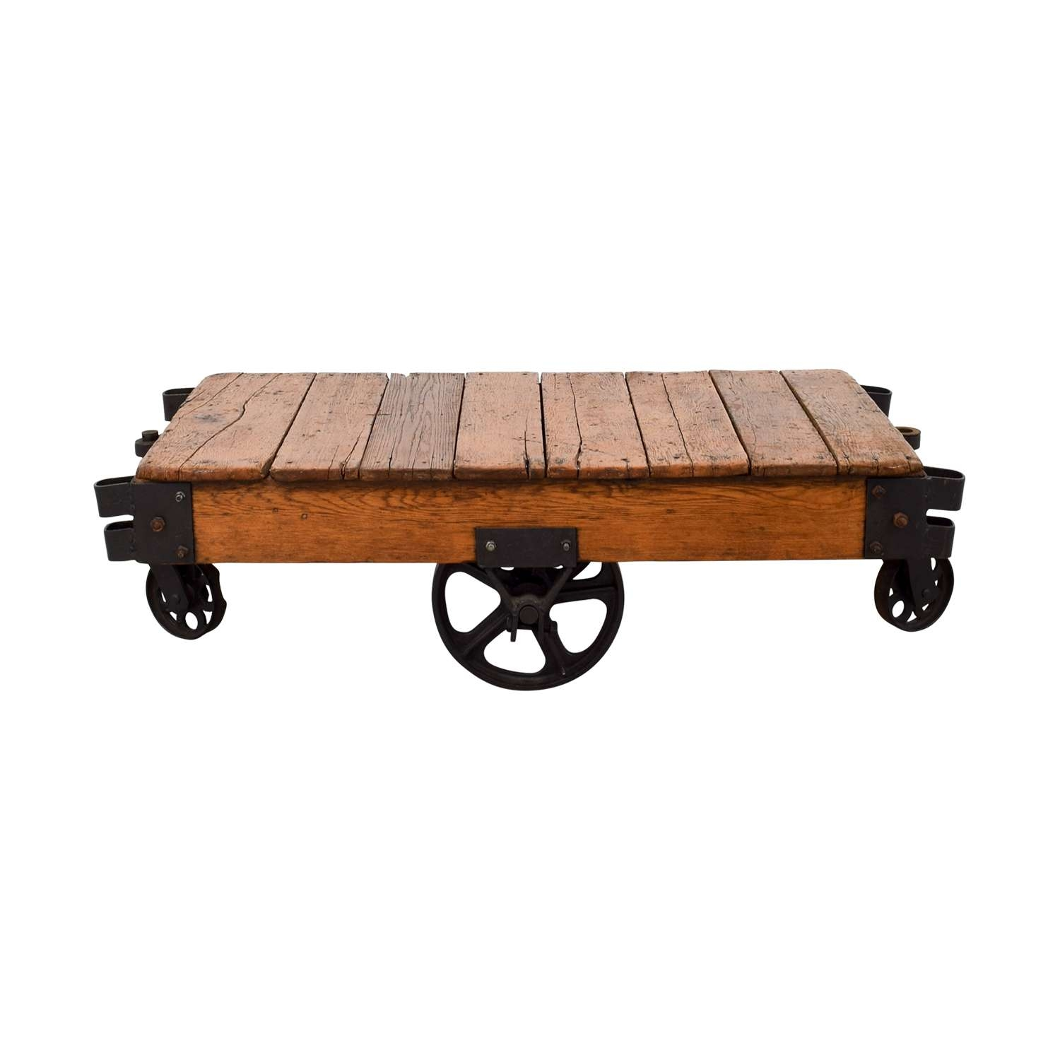[%Most Popular Rustic Coffee Table With Wheels In 49% Off – Restoration Hardware Restoration Hardware Rustic Coffee|49% Off – Restoration Hardware Restoration Hardware Rustic Coffee Inside Current Rustic Coffee Table With Wheels%] (View 1 of 20)