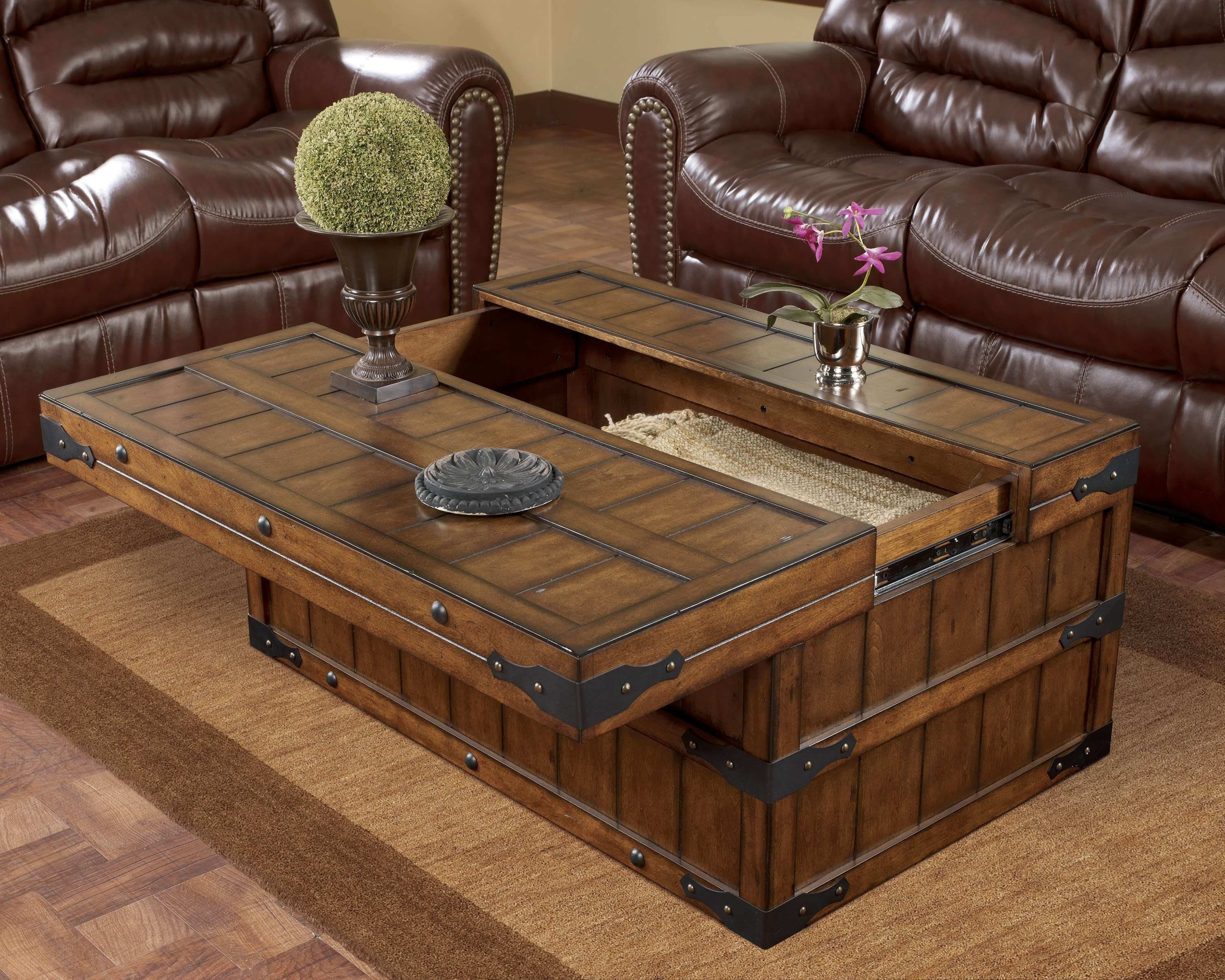 Most Popular Rustic Coffee Tables With Regard To Coffee Table : Amazing Modern Coffee Table Square Wood Coffee (View 20 of 20)