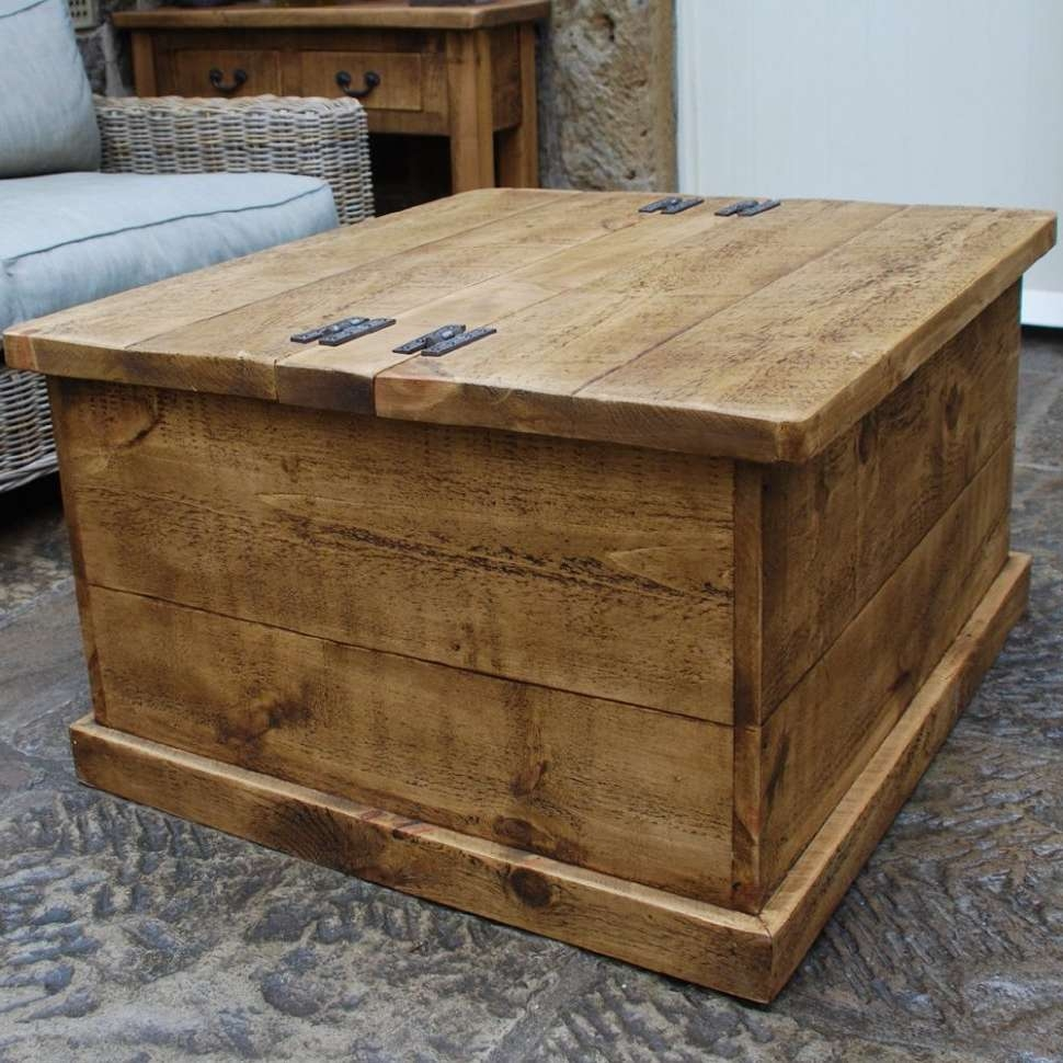 Most Popular Rustic Style Coffee Tables In Coffee Tables : Table Wooden Trunk Coffee Pk Home Style Trunks (View 11 of 20)