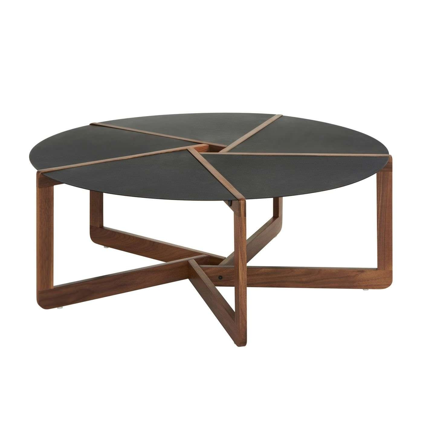 Most Popular Solid Round Coffee Tables Throughout Contemporary Coffee Table / Walnut / Solid Wood / Ash – Pi – Blu Dot (View 6 of 20)