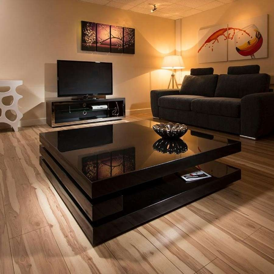Most Popular Square Black Coffee Tables Pertaining To Design Of Large Square Coffee Tables With Coffee Table Awesome (View 16 of 20)