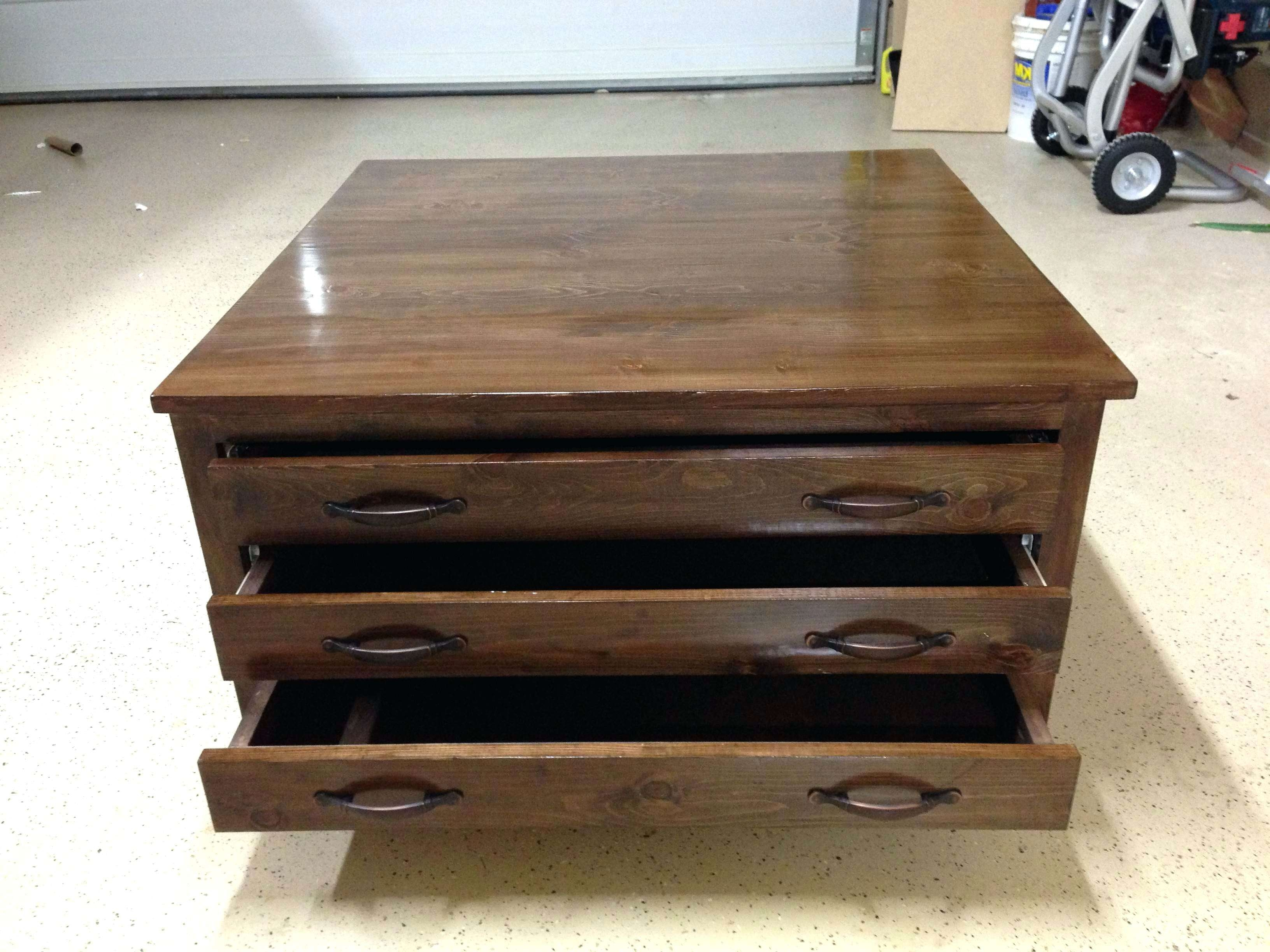 Most Popular Square Coffee Table With Storage Drawers For Coffee Tables : Rustic Coffee Table With Storage Tables And End (View 3 of 20)