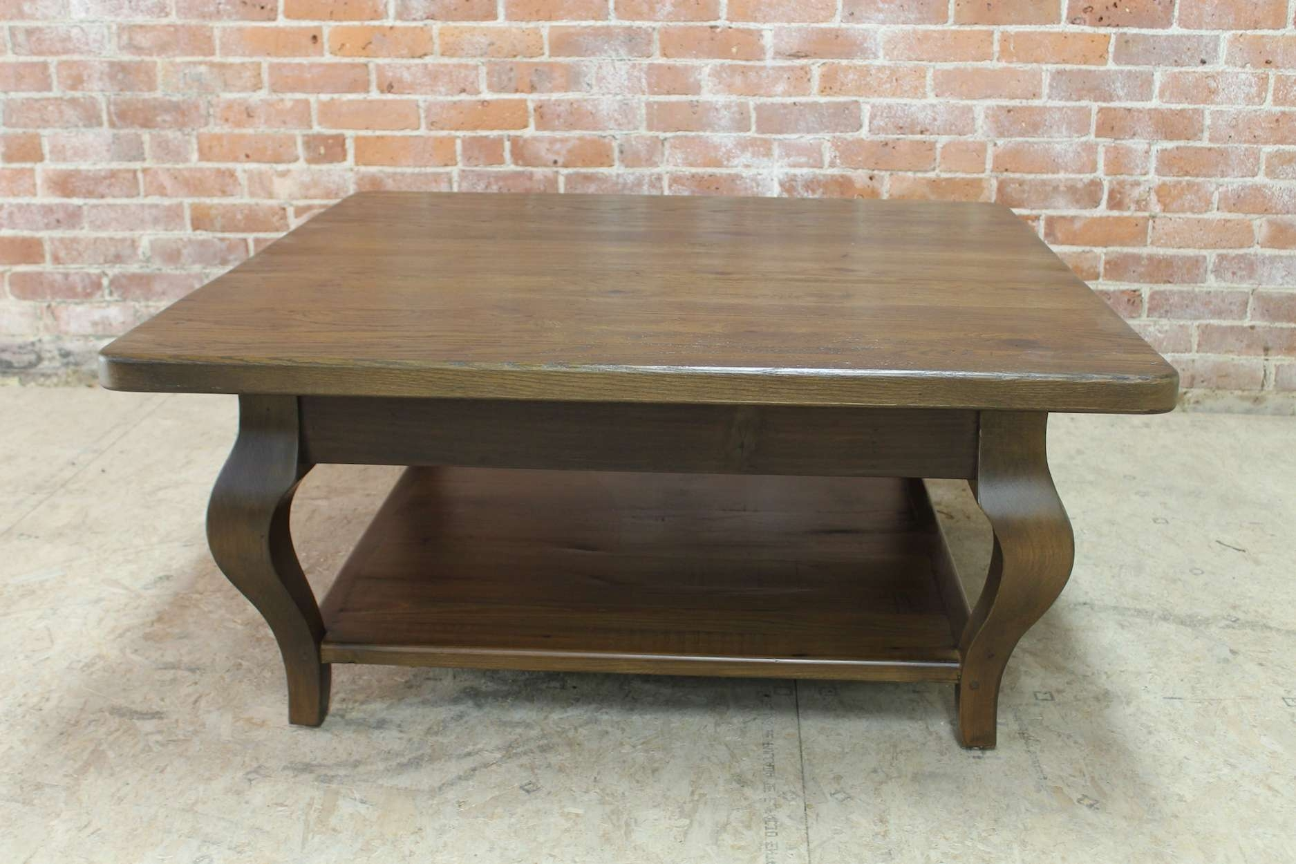 Most Popular Square Pine Coffee Tables Pertaining To 42inch Square Farmhouse Coffee Table – Lake And Mountain Home (View 18 of 20)