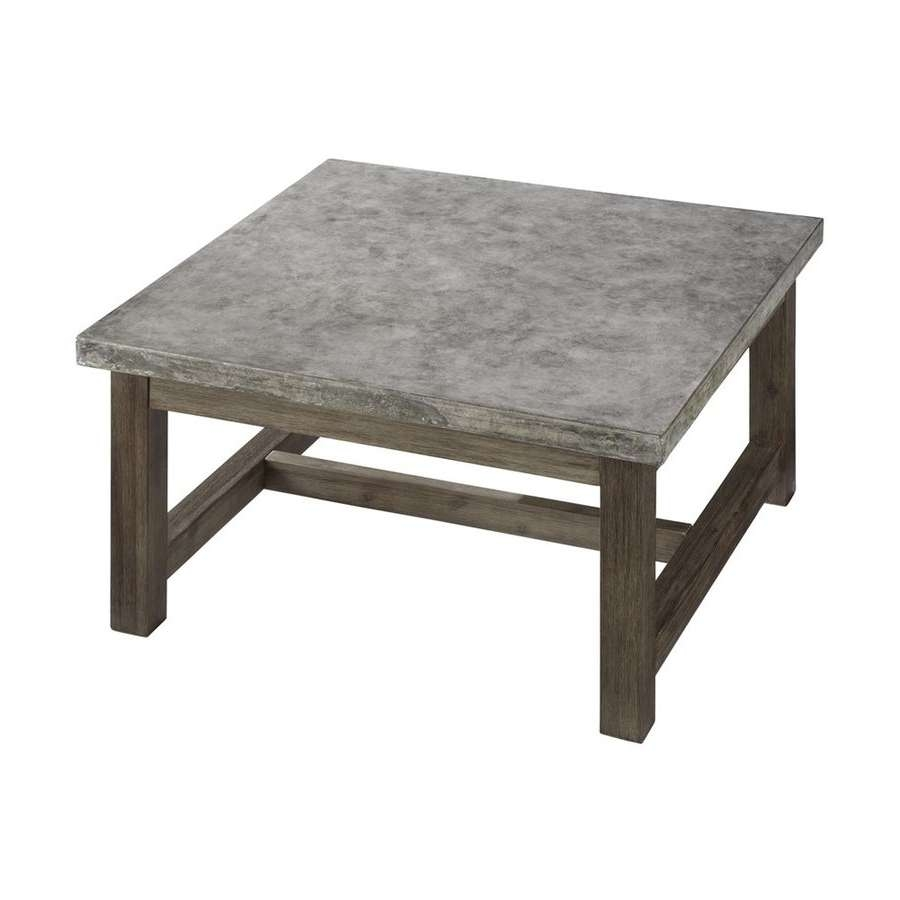 Most Popular Square Wooden Coffee Tables In Shop Home Styles Concrete Chic 36 In W X 36 In L Square Wood (View 12 of 20)