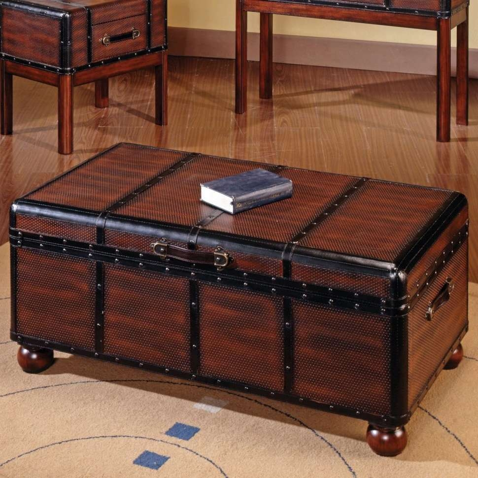 Most Popular Trunk Chest Coffee Tables In Coffee Tables : Table Rustic Trunk Coffee Storage Silver Diy Chest (View 3 of 20)