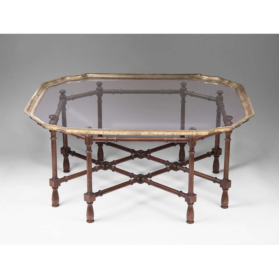 Most Popular Vintage Glass Top Coffee Tables With Regard To Coffee Tables : Shocking Bamboo Coffee Table Photo Concept Vintage (View 7 of 20)