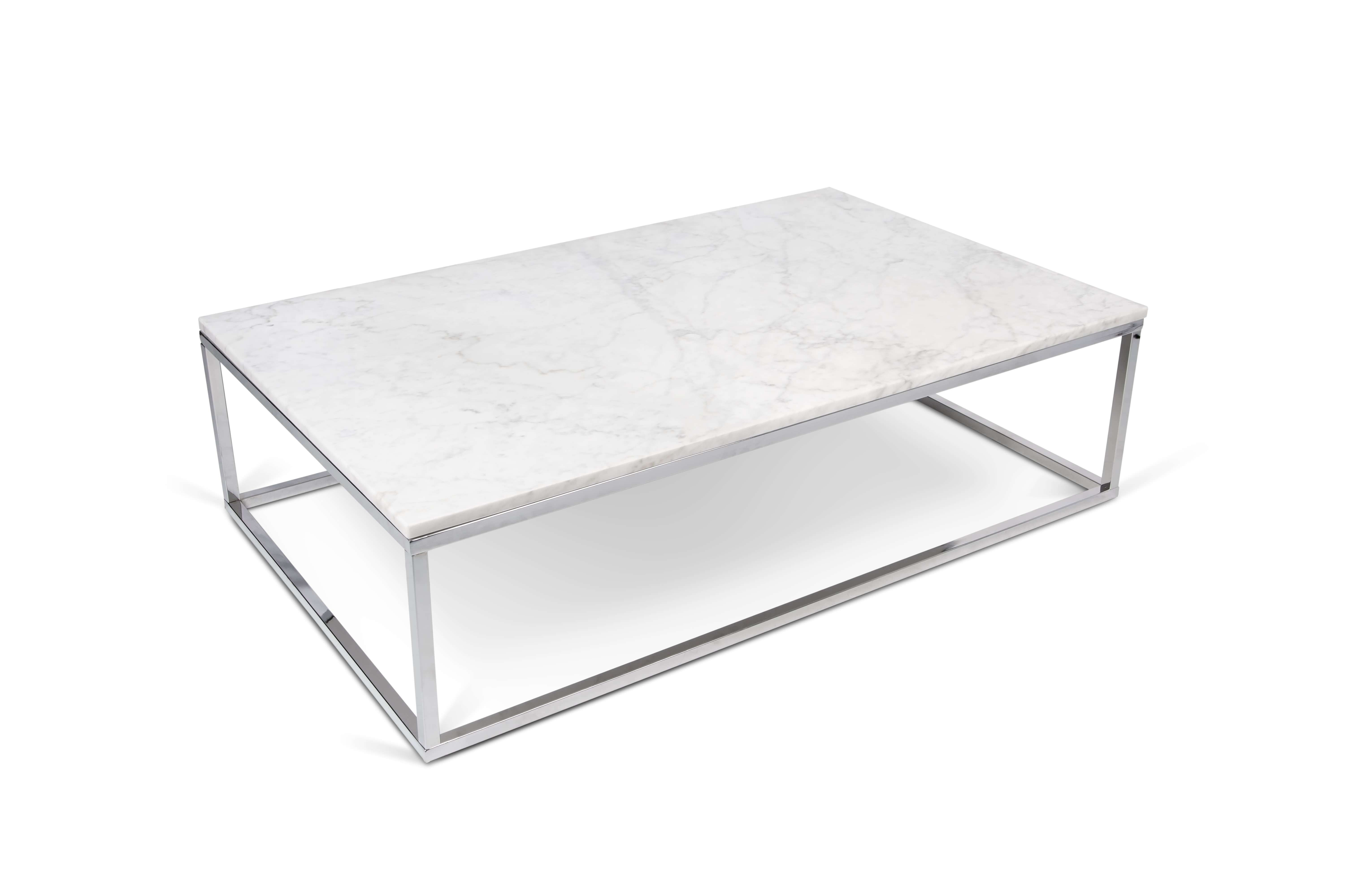 Most Popular White And Chrome Coffee Tables Regarding White Marble And Chrome Coffee Table • Coffee Table Ideas (View 11 of 20)