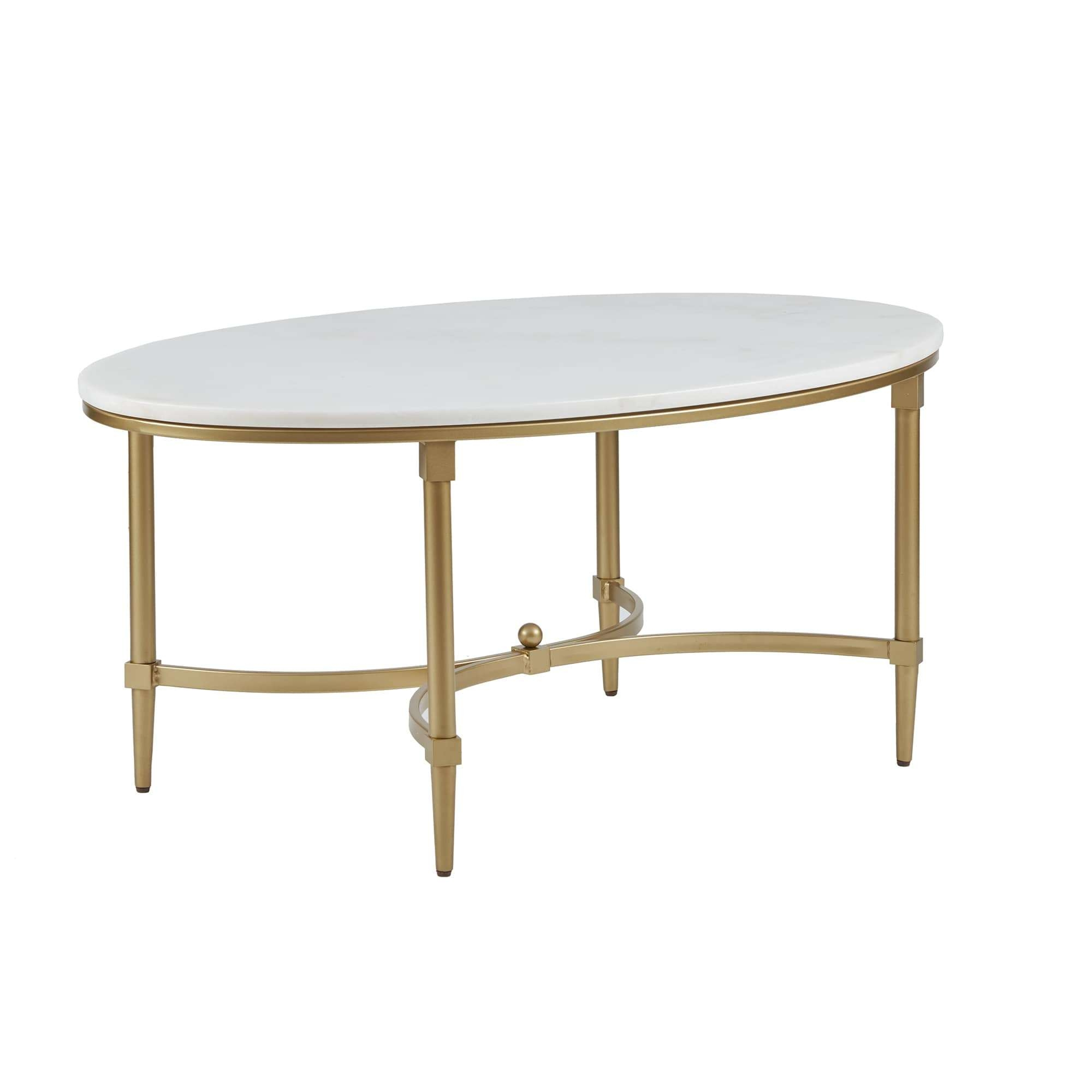 Most Recent Bordeaux Coffee Tables Intended For Madison Park Signature Bordeaux Goldtone Metal Oval Coffee Table (View 15 of 20)