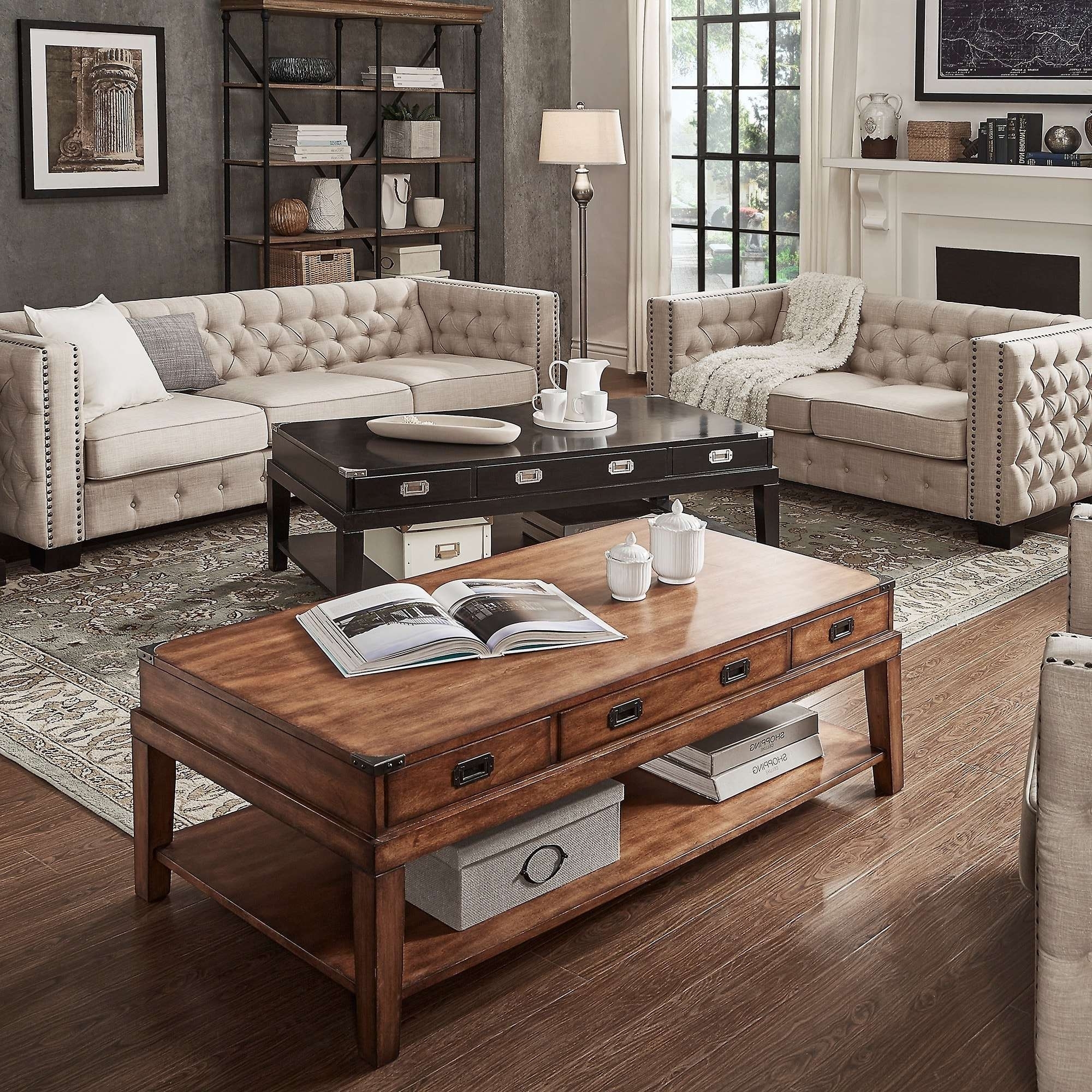 Most Recent Campaign Coffee Tables Intended For Lonny Wood Storage Accent Campaign Coffee Tableinspire Q (View 11 of 20)