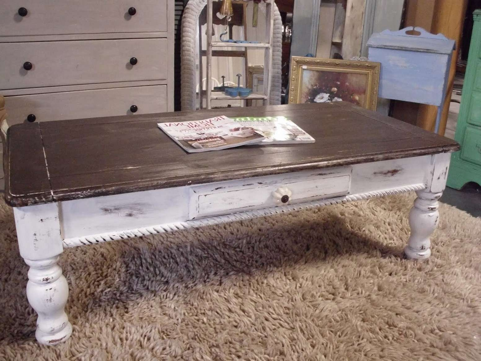 Most Recent Chunky Coffee Tables Pertaining To Chunky Farmhouse Coffee Table Images (View 7 of 20)